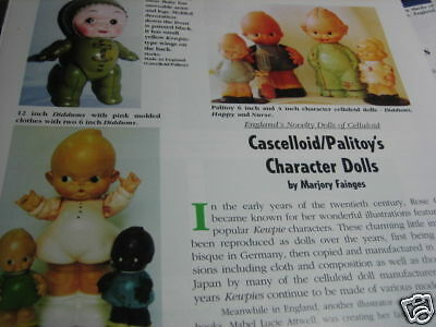2pg Cascelloid Palitoy Doll Article CELLULOID Diddums / Marjory Fainges   b1