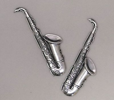 #2999 ANTIQUED SS/P SAXOPHONE COMPONENT - 2 Pc Lot