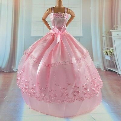 New 2014 Beautiful handmade Party Dress Clothes for Barbie Doll bab97