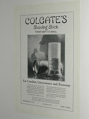 1924 Colgate Shaving Stick advertisement, Handy Grip and Refill