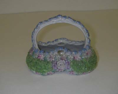 BASKET Encrusted Porcelain Germany German Art Numbered reticulated