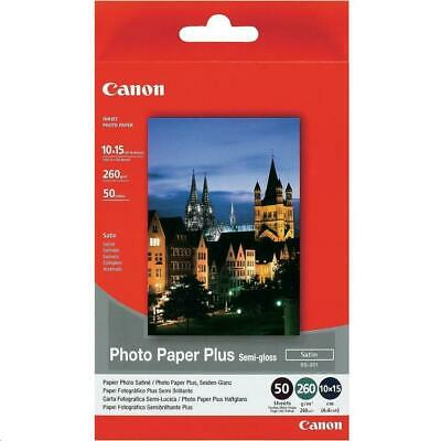 Canon SG-201 (4 x 6 inch) 260gsm Semi-Gloss Photo Paper Plus (Pack of 50 Sheets)