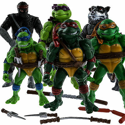 TMNT Teenage Mutant Ninja Turtles 6PCS/Lot Action Figure Anime Movie Collect Toy