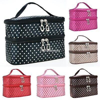 Large Cosmetic Bag Makeup Case Hanging Travel Wash Toiletry Organizer Pouch