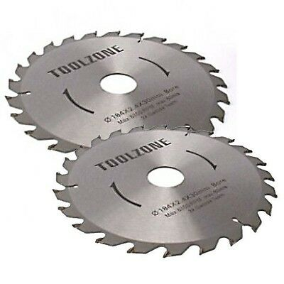 2 Pce 250Mm Tct Circular Saw Blades 40 / 60 Teeth With Adapter O Rings Chop