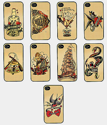 Estuche Carcasa Vintage Retro Marinero Tattoo Galaxy S3 S4 Iphone 4 4S 5 5C 5S