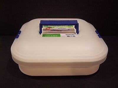 new SQUARE pie cupcake carrier taker food storage plastic portable dish to pass