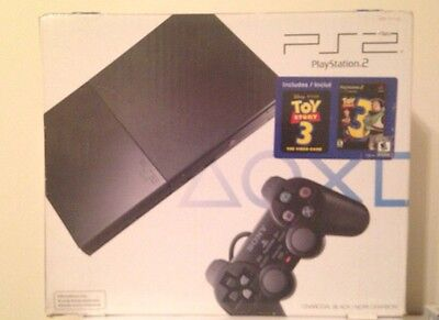 Sony PlayStation 2 Slim Toy Story 3 Video Game Bundle Charcoal Black Console New