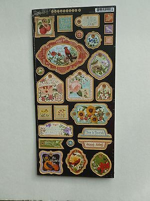 Graphic 45 Sun Kissed Collection Die Cut Chipboard Tags 4501679