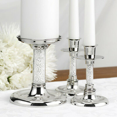 Hortense B Hewitt Glittering Beads Candle Stand Set 10813 Unity Candles NEW
