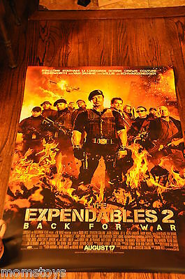Sdcc Comic Con The Expandables 2 Back For War Full Size Movie Poster