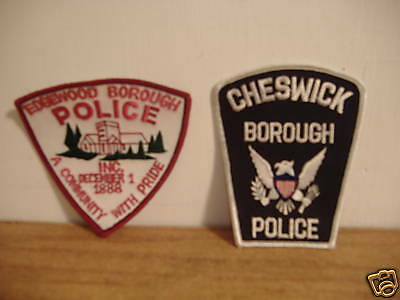 Edgewood & Cheswick Boro.~Police Patches~Alleg Cty~Pa
