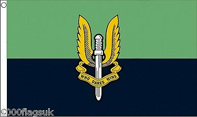 British Army SAS Special Air Service Green and Blue 5'x3' Flag