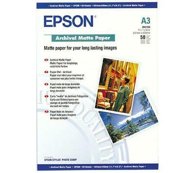 Epson (A3) Archival Matte Paper (50 Sheets) 192gsm (White)