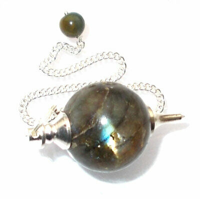 Labradorite Crystal Ball Dowsing Pendulum Excellent for Strengthening Intuitions