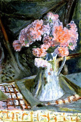 Bouquet Of Flowers Painting By Pierre Bonnard Repro