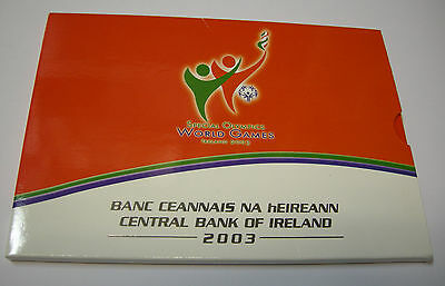 Kms Coinset Eire Irland 1 Cent - 5 Euro 2003 Special Olympics Blister Unc.