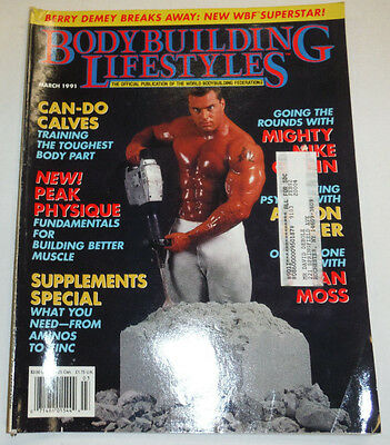 Bodybuilding & Lifestyles Magazine Mike Quinn & Berry Demey March 1991 112114R1