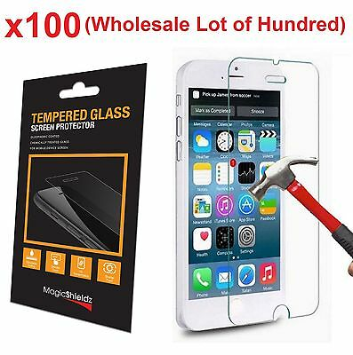 100x Wholesale Lot Tempered Glass Screen Protector for Apple iPhone 6 Retail Box