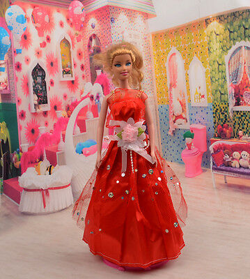 2014 Hot style Fashion Handmade princess  party Clothes dress For Noble Doll D17