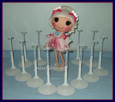 FREE U.S. SHIPPING 12 White Kaiser Doll Stands fits LaLaLoopsy