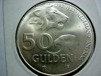 Netherlands 50 guldens 1982 in Briliant Uncirculated condition.Rare.