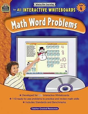 Interactive Learning: Math Word Problems Grd 4 by Teacher Created Resources...