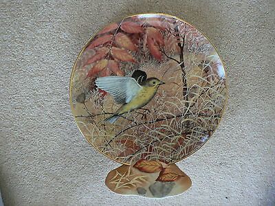 RSPB Collector Plate with Matching Ceramic Stand, Yellow Warbler, Bird, Nature