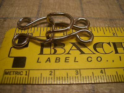 #T Theatrical Costume Sewing Fastener Hook & Eye Tutu Closure Nickel Silver 1.5""