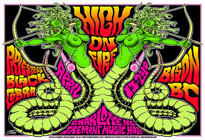 High On Fire - 2010 - Charlotte - Priestess - Black Cobra - Greg Reinel Stainboy