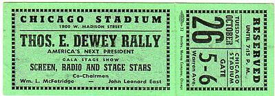 1948 Thomas Dewey America's Next President Ticket