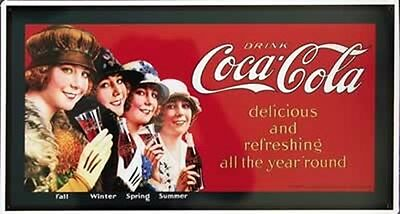 Coca-Cola Blechschild delicious and refreshing