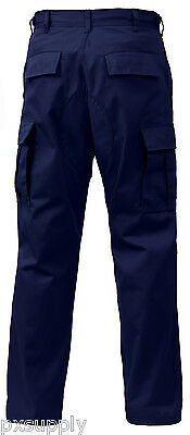 55897e4201092 cargo pants military bdu style navy blue various sizes and lengths rothco  7885