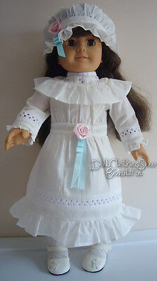 Victorian Lawn Party Dress + Hat made for American Girl Samantha Doll Clothes