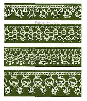 Antique Victorian era how to make tatted lace trim using a tatting shuttle