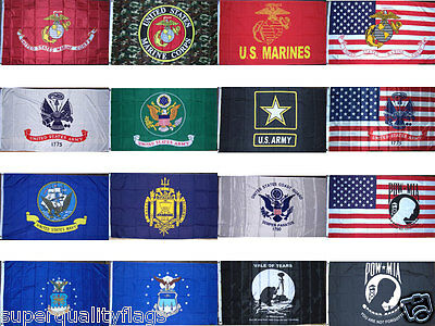 Army Navy USMC POW Flag 3X5 ft New U.S. military banners