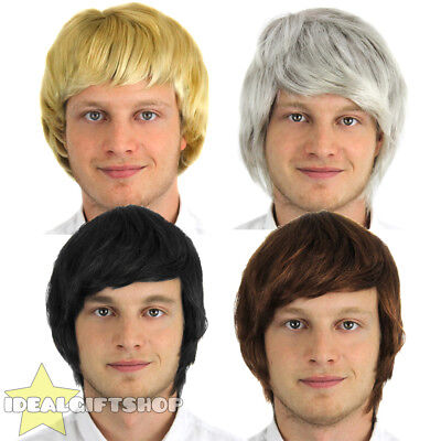 Male Wigs Variety Of Colours Fancy Dress Accessory 50's 60's Hairpiece Male