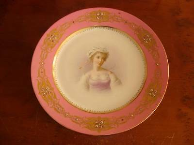 STUNNING ANTIQUE FRENCH  SEVRES PORCELAIN CABINET PLATE. #1.  C1850