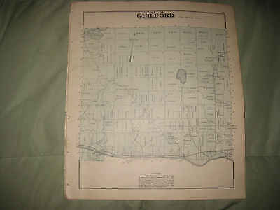Antique 1882 Guilford Sangerville Piscataquis County Handcolored Map Railroad Nr