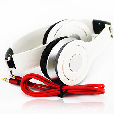 White+Black Fashion Over-Ear Earphone Headset 3.5mm For iPod iPhone MP3/4 4S 5S
