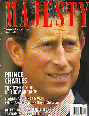 PRINCE CHARLES UK Majesty Magazine 11/92 THE OTHER SIDE