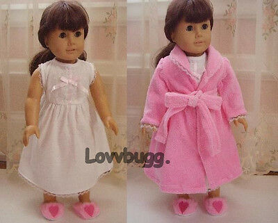 "Pink Terry Robe+Nightgown Clothes for 18"" American Girl Doll Widest Selection!"