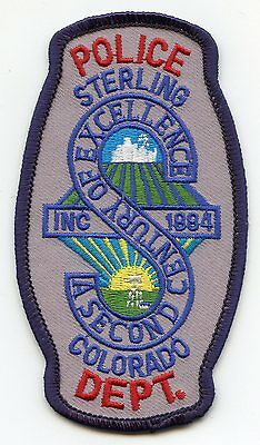 Sterling Colorado Co Police Patch