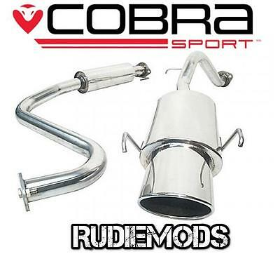 Cobra Sport MG ZR 1.4 1.8 Stainless Steel Cat Back Exhaust System Resonated
