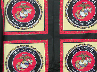 "1 yard ""Marine Corps"" Pillow Panel Fabric"