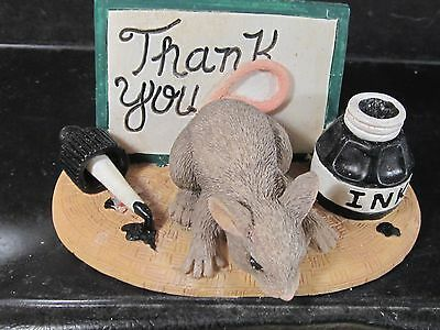 Charming Tails THANK YOU Mouse Bottle of Ink 98/700