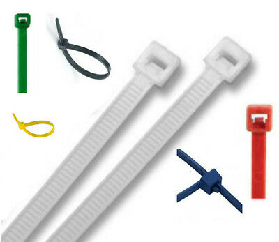 NYLON CABLE TIES 100mm & 200mm x 2.5mm ZIP TIES CABLE TIDY TIE WRAPS