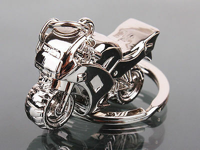 Motorcycle Key Ring Chain Motor Silver Keychain New Fashion Cute Lover Gift