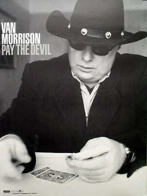 Van Morrison 2006 pay the devil promo poster ~MINT condition~NEW old stock~!!