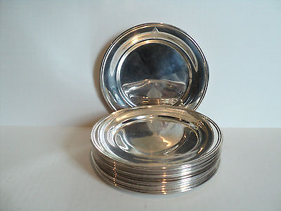 "Great Set/14 ""S. Kirk & Son"" Sterling Silver Bread & Butter Plates"